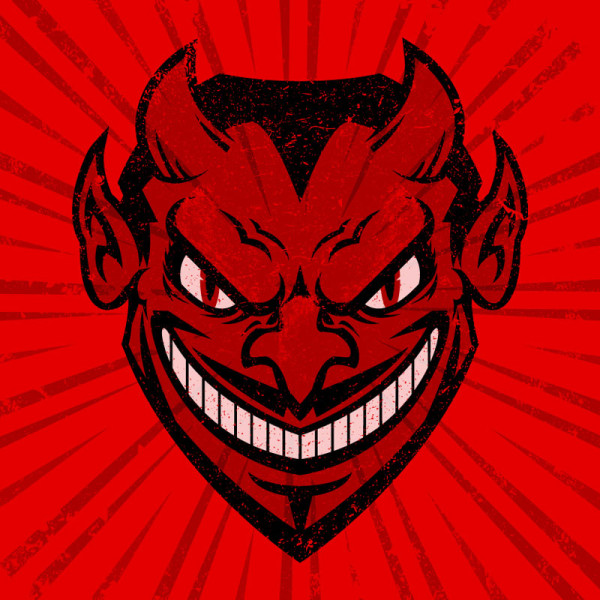 Devil cartoon illustration