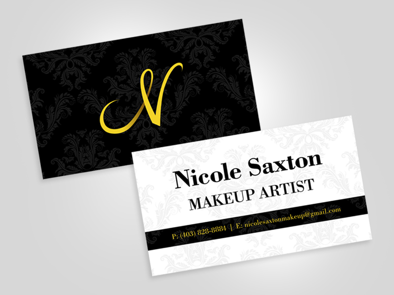 Nicole makeup artist business card design