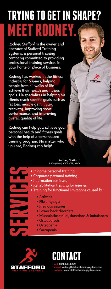 Stafford Training Systems tradeshow banner