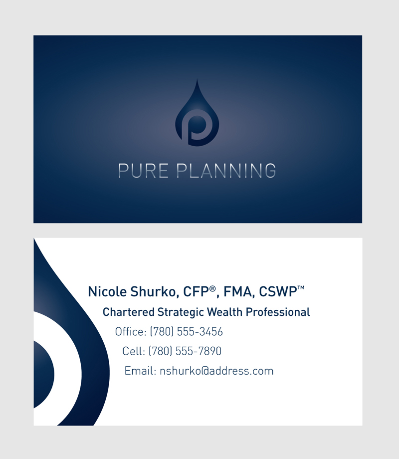 Pure Planning business cards