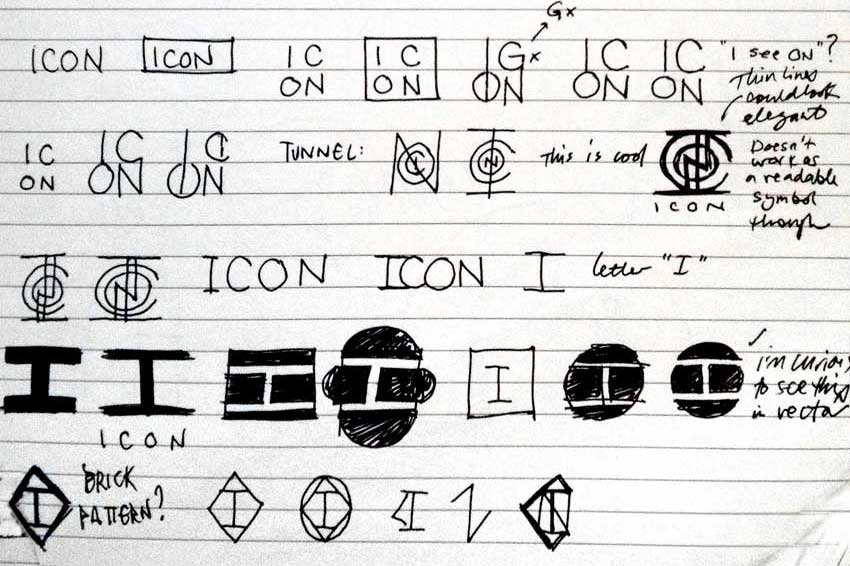Icon logo sketch