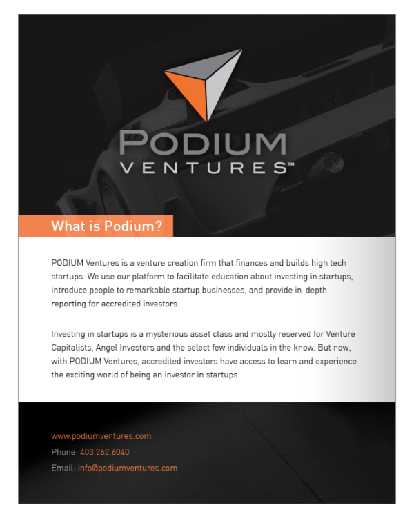 Podium Ventures one pager